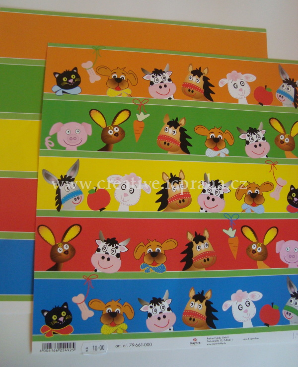 RY 79661000 zvířata bordury 30,5x30.5cm