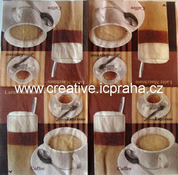káva 3x - Latte Macchiato,Espresso,Cofee