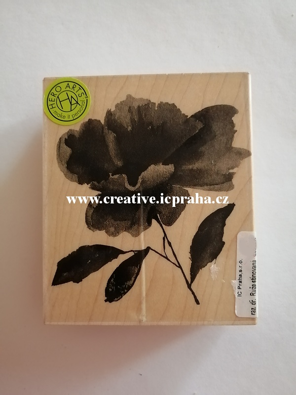 raz. dřevěné Hero Arts -Růže stínovaná 9cm SLEVA