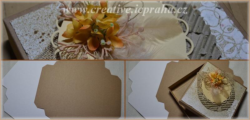 krabička s víčkem 16x16x3cm bílá