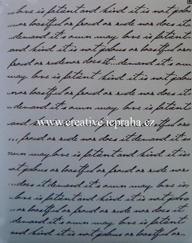 razítka Cling HC - Dopis Background - 15x11,5cm