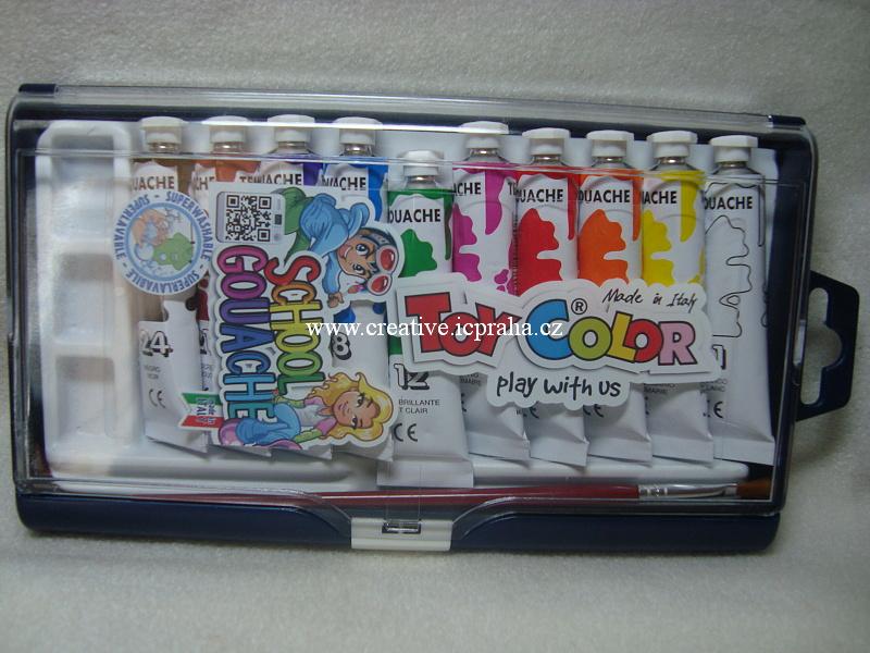 sada tempera 10x12ml Toy Color +ště.+paletka 718