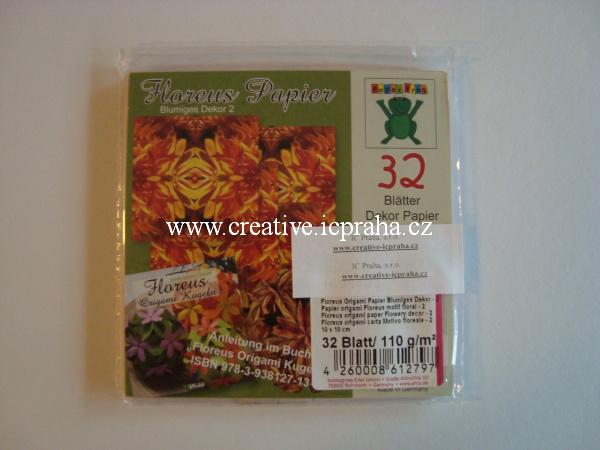 origamipapír  EFCO 10x10cm květ 32listů/110g/m2