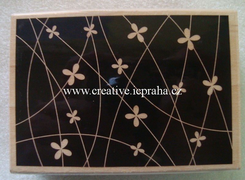 raz. dřevěné- Kvítky Background 5.8x8.5cm SLEVA
