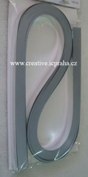 folie proužky 0.9x53cm bal.100ks - stříbrné