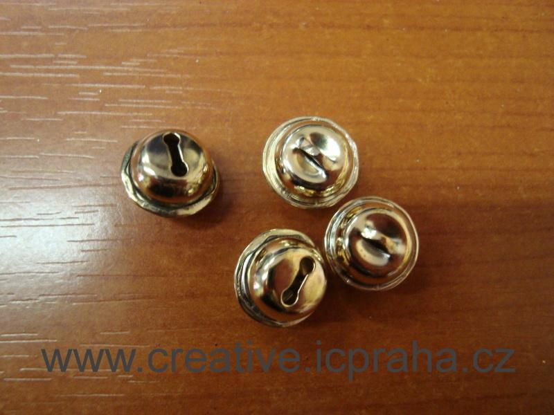 kov - rolnička zlatá 14mm bal.5ks