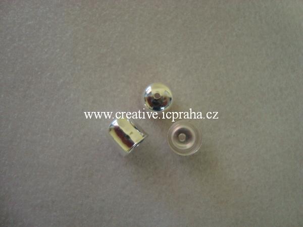 Kaplík 10mm postříbřeno - hladký