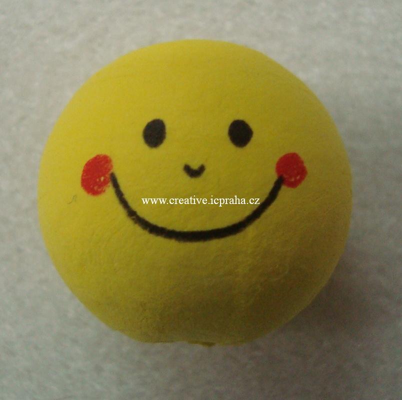 obličej (30mm) - žlutý 220AB