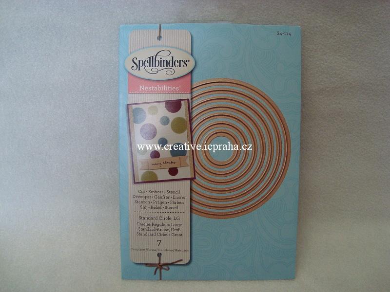 vyřezávací šablona  Spellbinders - Kruhy 7ks