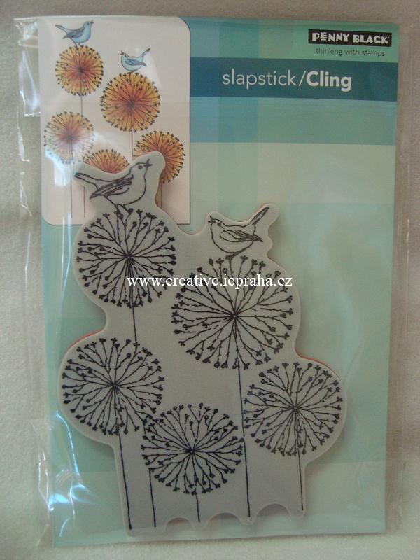 razítka Cling PB - Pampelišky cca10,5 x13,5cm
