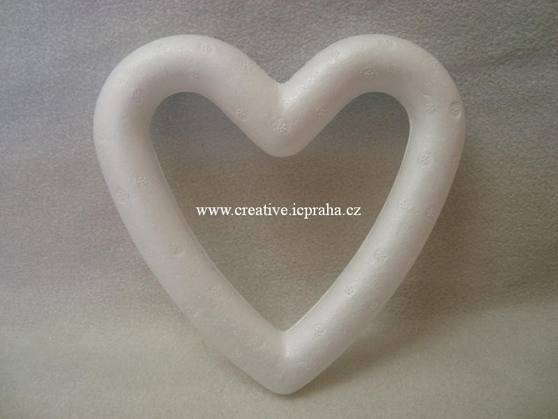 polystyren - srdce 15cm - kontura 3325200