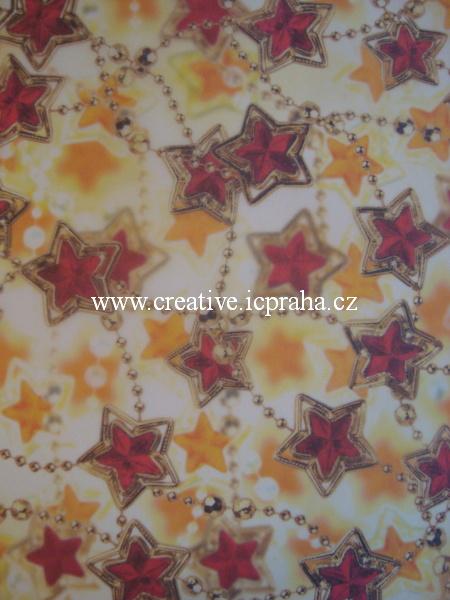 transp.papír 23x33cm - vánoční řetěz 88401/SLEVA