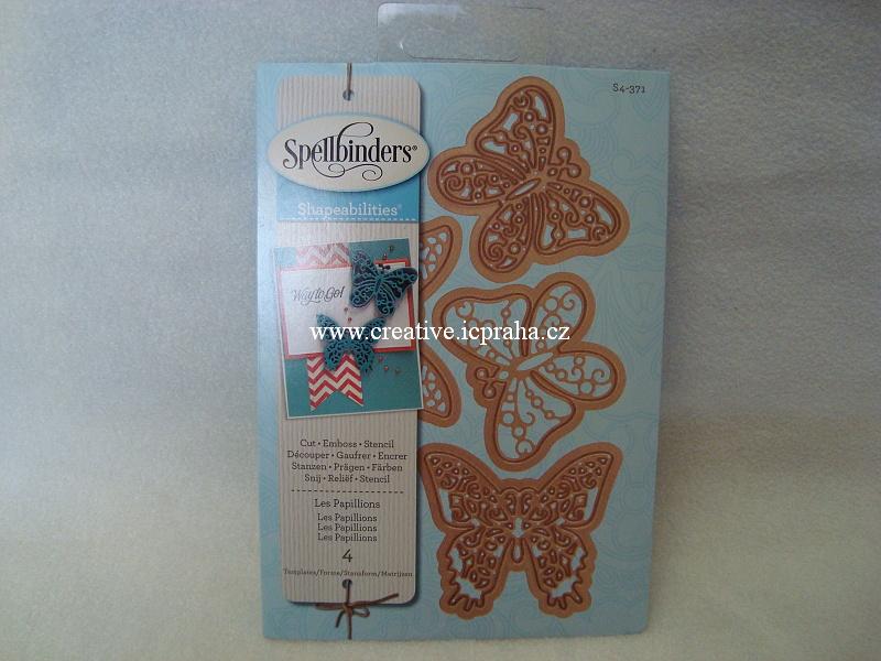vyřezávací šablona  Spellbinders - Motýli