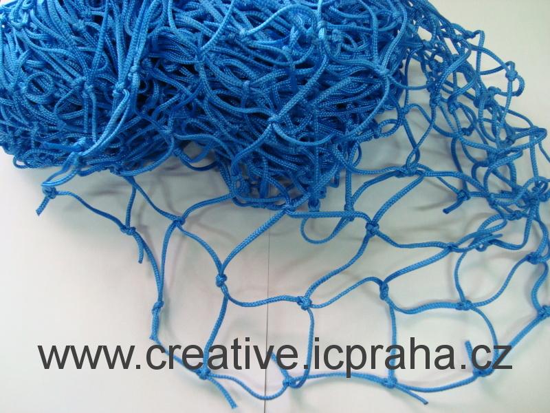 síťka uzlová 3x1m modrá (oko 5cm) polypropylen