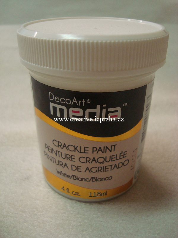DecoArt - crackle paint 118ml - Bílá