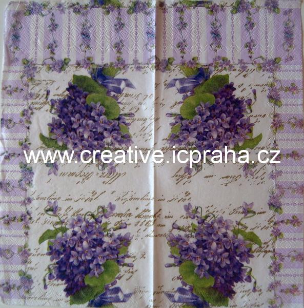 m-fialky kytička na fialovém