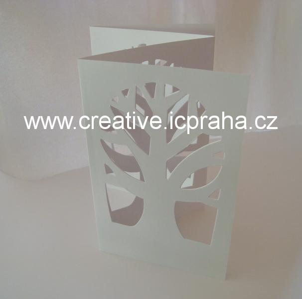 leporelo Strom 15x23cm - bílý