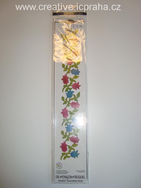 vyřezávací šablona  Sizzlits bordura květinová