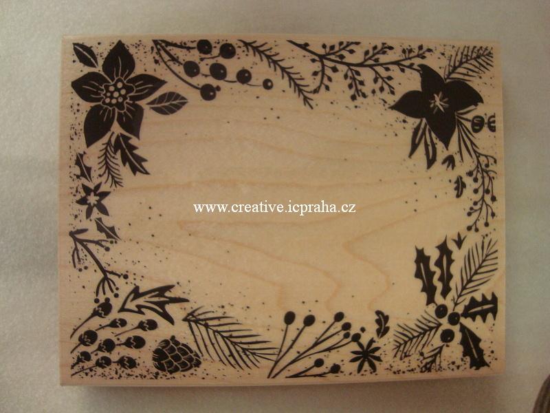 raz. dřevěné Hero Arts - Vánoční rámeček 14x11cm
