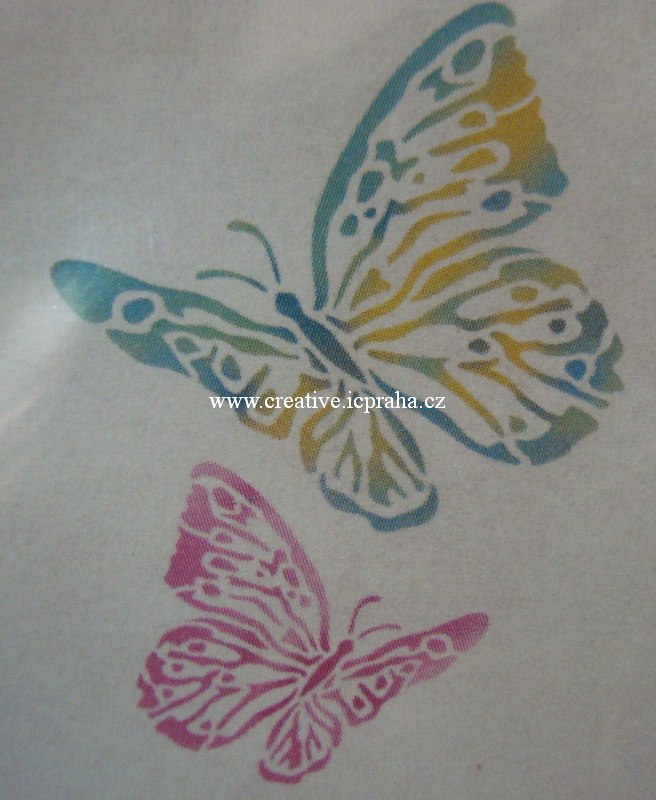 šablona plast STP A4 - Motýli dva  KSG347