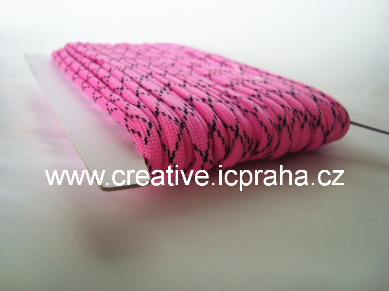 paracord 4mm Hot Pink 1m