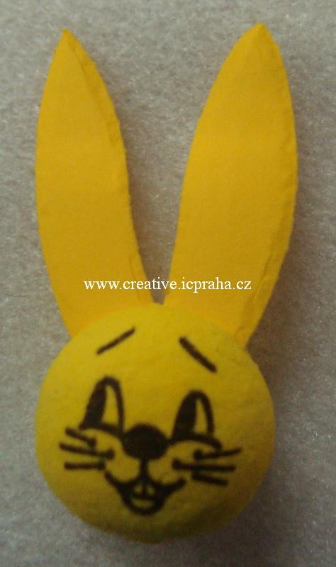 obličej (25mm) - žlutý zajíc s ušima 4010