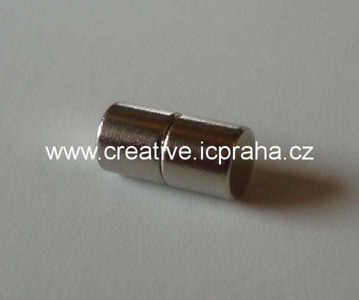 Magnetické zapínání 4x4mm válečekpro vlepení NV019
