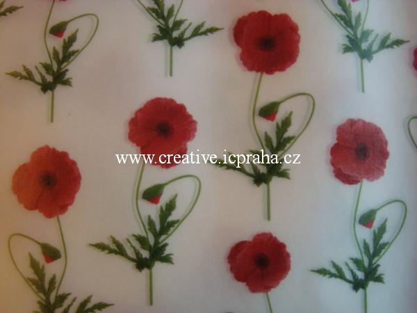 transp. papír 20x52cm - máky