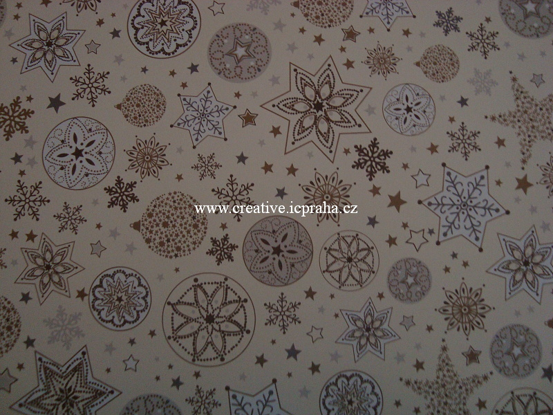 fotokarton 300g/m2 50x70cm hvězdy zl  He20-4771823
