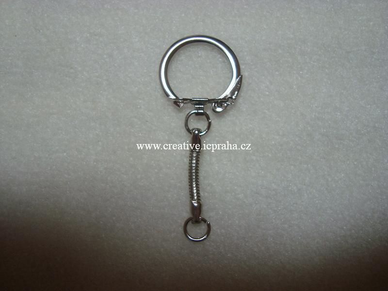 Přívěsek na klíče - zavírací kroužek 6,5cm/1ks