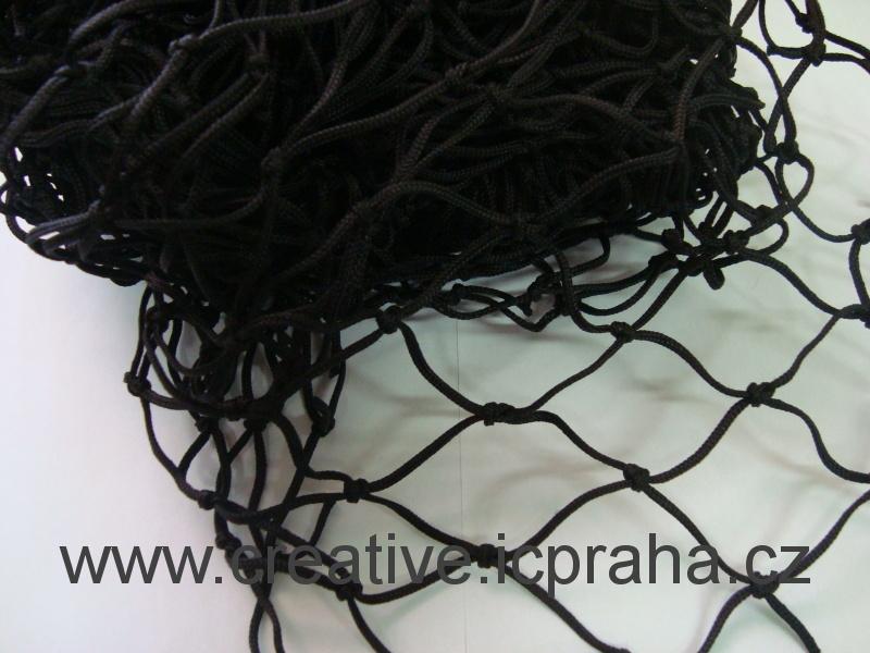 síťka uzlová 3x1m černá (oko 4,5cm) polypropylen