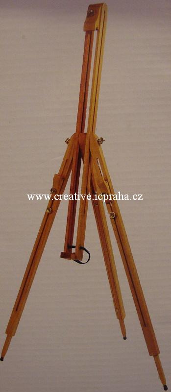 stojan malířský 192cm - buk  max.výška plátna106cm
