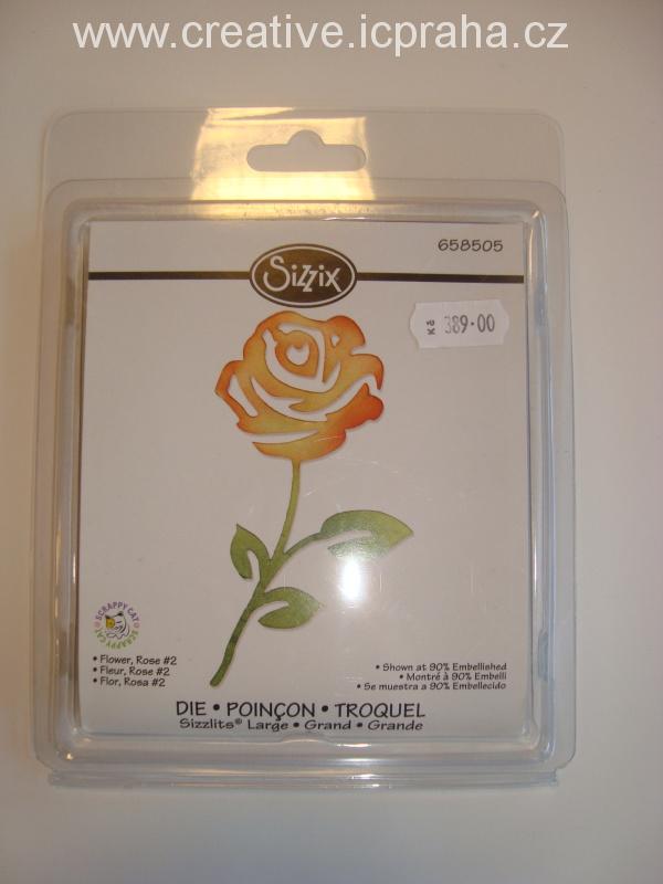 vyřezávací šablona  Sizzlits růže 658505