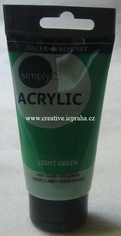 DR akryl SIMPLY tuba 75ml 348 zelená světlá