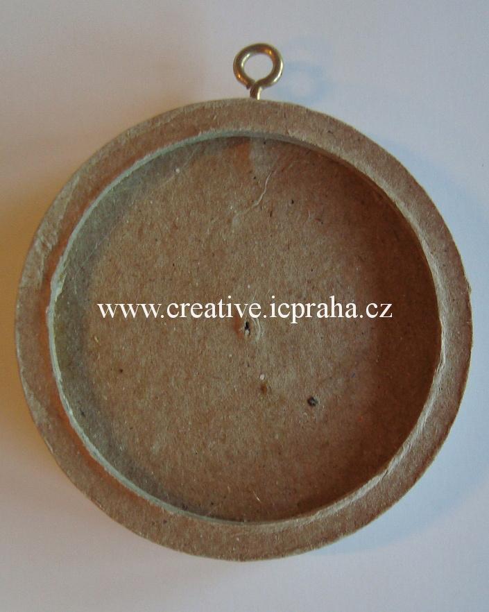 rámeček pap. kruh - mozaika 6cm E2633006
