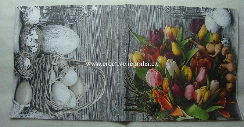 košíky,vajíčka,tulipány Maki