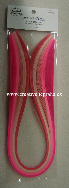 pap.proužky 0.3x44,5cm bal.100ks Mix Pink