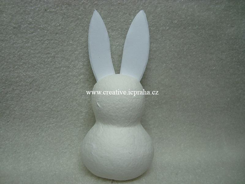 figurka vatová - Zajíc malý 8cm - 1ks 41005105