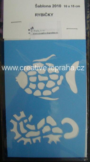 šablona plast PH10x15cm - koník, ryba 2010