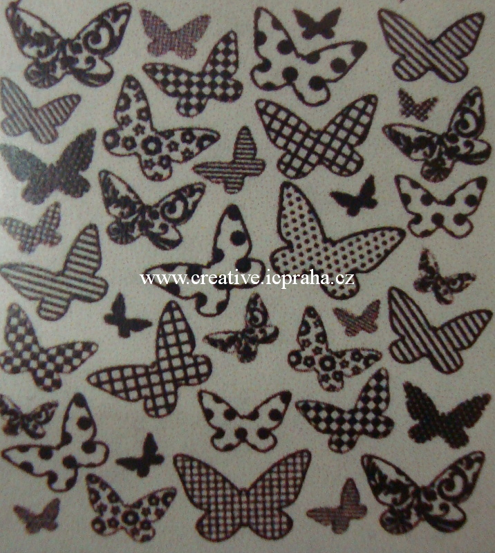 razítka Cling UC - Motýli Background - 9x11cm