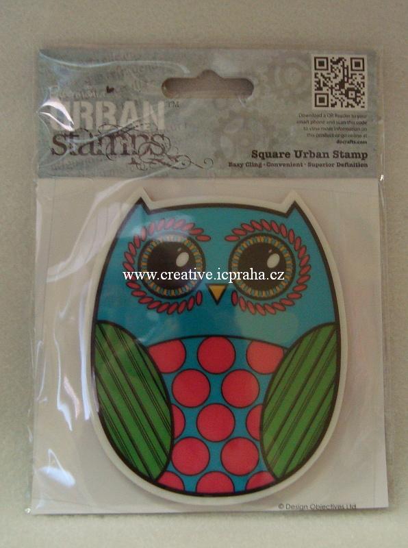 razítka Cling Urban Stamps - Sova 8x10cm