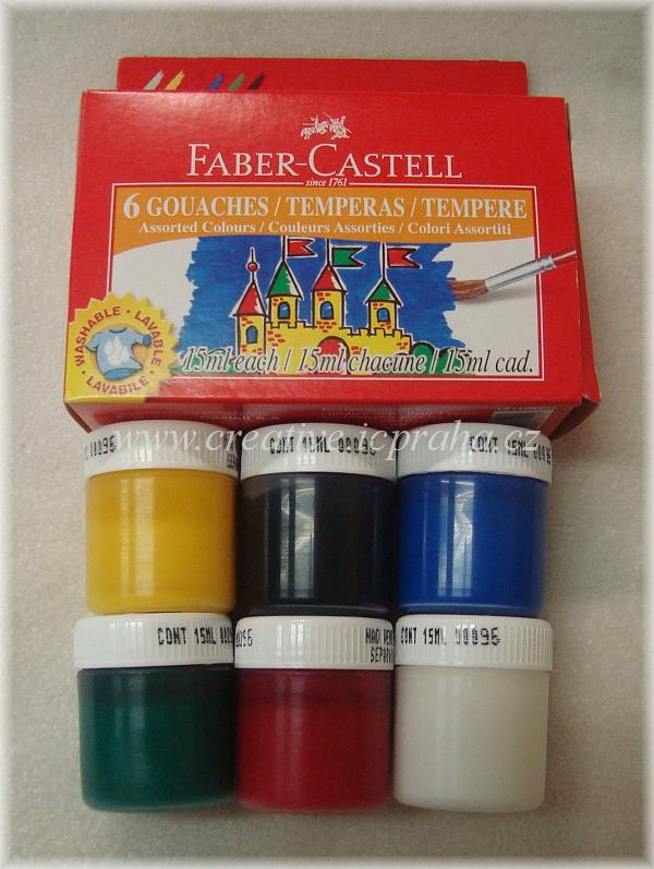 tempery Faber Castell 6kelímků po15ml