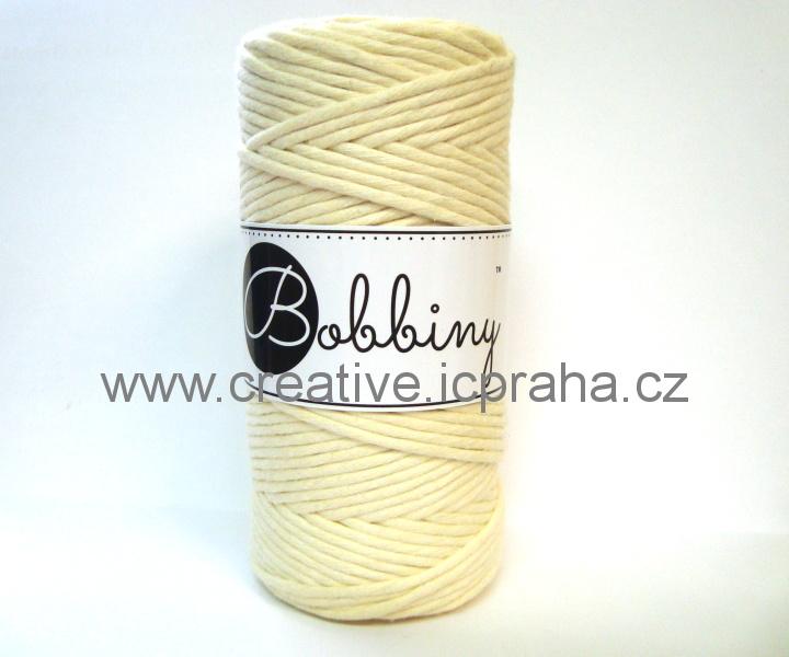 Bobbiny120m - šedá/bílá  proužky 1727
