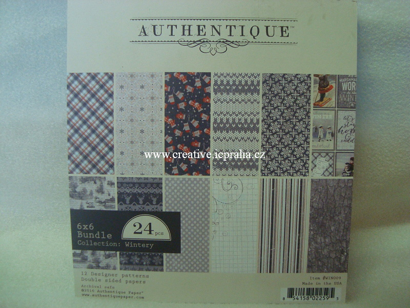 Authentique - Wintery 24ks 15x15cm