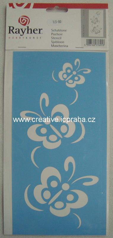 šablona plast 150x300mm motýli R38 262 00