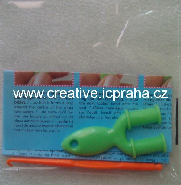 gumičky Loops- pletací prak, háček a návod
