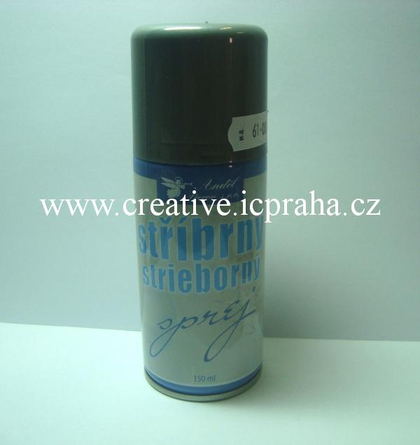 sprej stříbrný 150ml