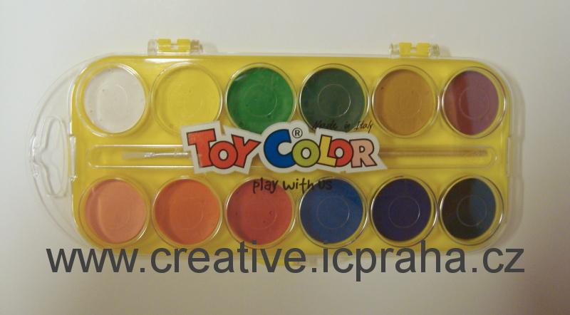 barvy vodové 12 barev Toy Color 704
