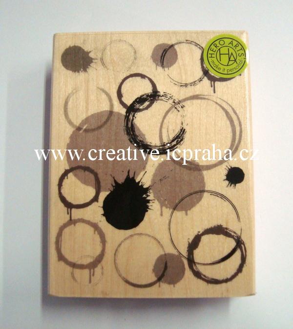 raz. dřevěné Hero Arts - Skvrny 10,5x8cm SLEVA