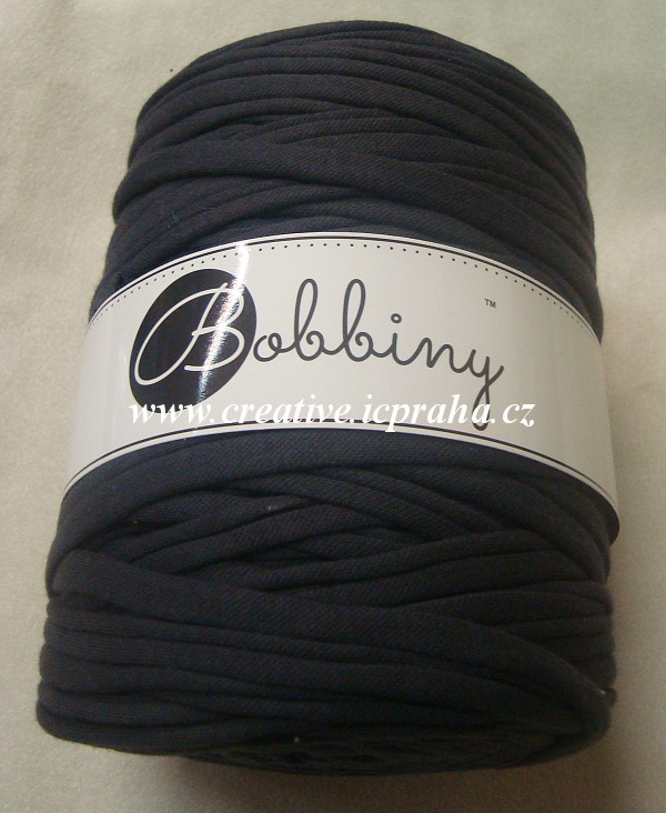Bobbiny120m - černá grafitová